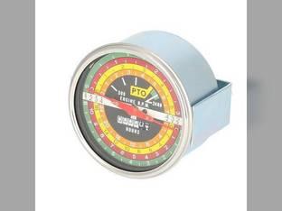 Tachometer Gauge - Black Face - IH Logo International 806 1206 2706 1456 826 706 2756 756 21206 1256 2856 766 2806 103152A1