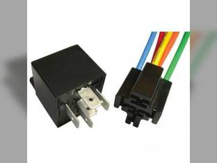 Mini Relay 5 Pin SPDT Resistor Bracket & 5 Pin Connector 12 Volt 30-40 Amp