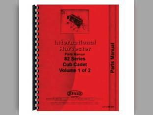 Parts Manual - 82 Cub Cadet 1210 1604 383 1606