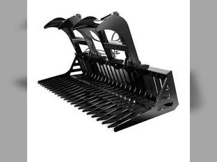 """All States - Rock Bucket with Grapple - 72"""" - Skid Steer"""