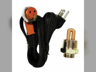 """Frost Plug Heater - 1"""" 400 Watt 120V Yanmar 4TNE98 4TN82 3T72 Massey Ferguson 1155 1150"""