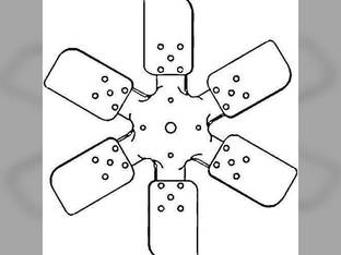 Cooling Fan - 6 Blade Pusher Ford 651 881 4030 611 641 600 2000 631 630 601 941 501 1801 901 971 620 681 851 861 900 661 621 2120 961 700 4140 650 841 4000 821 981 951 701 801 800 811 871 4130 671