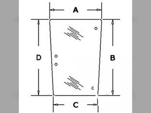 Cab Glass - Side Window RH or LH Tinted Massey Ferguson 675 670 690 699 698 3302705M5