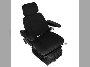 Seat Assembly Full Adjustment with Suspension Fabric Black Universal