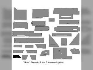 Cab Foam Kit less Headliner Gray/Black Basket Weave White 4-270 4-225