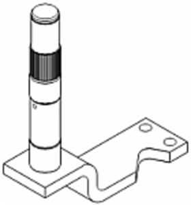 Steering Arm and Shaft - Center