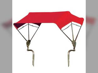 "SNOWCO 3-Bow Tractor Canopy with Frame Axle Mount 48"" - Red"