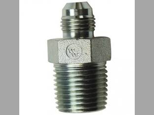 "Hydraulic Adapter Solid Straight 3/8"" Male JIC 37 degree 3/8"" Male NPT Fitting"