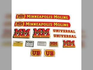 Tractor Decal Set UB Mylar Minneapolis Moline UB