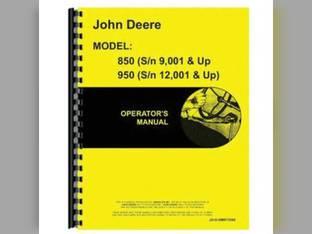 Operator's Manual - 850 950 John Deere 850 950 OMR72588