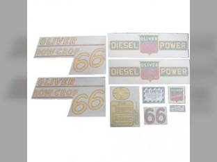 Tractor Decal Set 66 Row Crop Diesel Yellow Vinyl Oliver 66