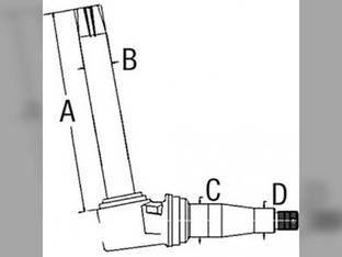 Spindle - RH/LH John Deere 400 300 1520 2030 AT39457