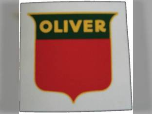 """Tractor Decal Shield 3"""" Red & Green Mylar Oliver 1755 Super 77 1850 70 1650 1555 880 770 Super 55 1655 550 Super 44 60 2150 1800 1955 1600 77 66 660 1855 Super 88 1900 Super 66 88 1750 1950 1550 2050"""