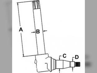 Spindle- RH/LH John Deere 4050 4240 4250 4255 4440 AR82754