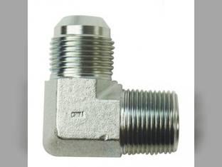 """Hydraulic Adapter 90° Angle 3/4"""" Male JIC 37° 3/4"""" Male NPT Fitting"""