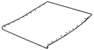 Feederhouse Floor Sheet - Upper Back Bottom