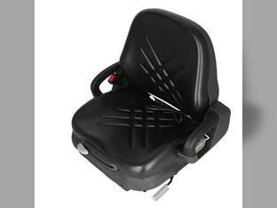 Seat Integrated Suspension Low Profile Vinyl Black