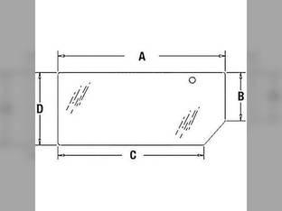 Cab Glass - Lower Rear Window New Holland TS115 TL90 7635 TM135 TM155 6635 TM120 TM125 TS90 5635 TM165 TL100 TS100 TL80 TS110 TM150 TM140 TM115 TM130 Case IH MXM120 MXM155 MXM175 MXM190 MXM130 MXM140