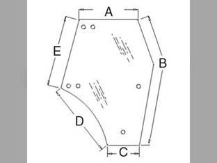 Cab Glass - Door RH Tinted Kubota M8540 M5040 M9540 M6040 M7040 3C581-70674