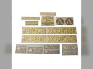 Vinyl Decal Set - A Styled 1939 to 1946 John Deere A