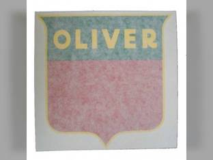 """Tractor Decal Shield 1-7/8"""" Red Vinyl Oliver 1755 Super 77 1850 70 1650 1555 880 770 Super 55 1655 550 Super 44 60 2150 1800 1955 1600 77 66 660 1855 Super 88 1900 Super 66 88 1750 440 1950 1550 2050"""
