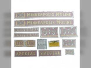 Tractor Decal Set UB Special Vinyl Minneapolis Moline UB