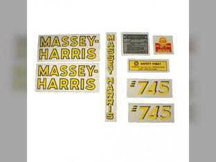 Tractor Decal Set 745 Vinyl Massey Harris 745