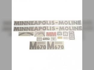 Tractor Decal Set M670 Vinyl Minneapolis Moline M670