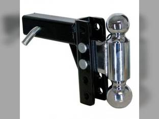 """Trailer Steel-Tow 5 Adjustable Steel Dual Ball Mount 2"""" & 2-5/16"""" - 5"""" Drop or Rise"""