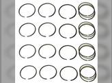 Piston Ring Set - Standard - 4 Cylinder Massey Ferguson 235 2200 30B TO30 135 245 202 2135 2500 4500 230 50 F40 35 204 150 TO35 Allis Chalmers B RC CA IB C Continental Z129 Z134 Z145 Massey Harris 50