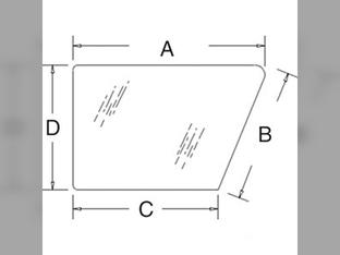 Glass, Cab Door, Lower, Left Hand