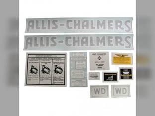 Decal Set WD Vinyl Allis Chalmers WD