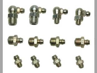 Grease Fitting Assortment 12 Zerk Fittings in 4 Sizes