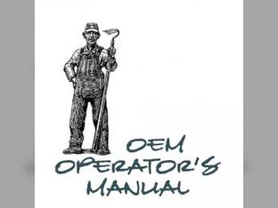 Operator's Manual - 595 695 with ZF MFD Axle Case IH 595 595 695 695