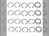 "Piston Ring Set - .030"" Oversize - 4 Cylinder Minneapolis Moline M670 M670 Super M5 5 Star M504 M602 M604 336"
