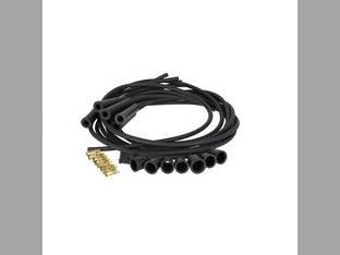 Spark Plug Wire Set - 6 Cylinder - Carbon Core - Straight Boots International 460 2706 560 806 756 656 826 706 856 Oliver Minneapolis Moline Allis Chalmers John Deere 4020 4010 Ford Massey Ferguson