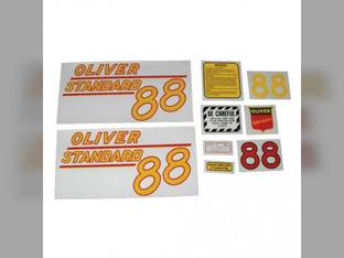 Tractor Decal Set 88 Standard Yellow Mylar Oliver 88