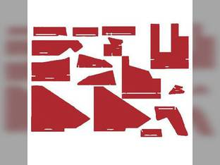 Cab Foam Kit with Headliner Red Material s/n 281933-301921 White 2-180 2-155 2-135