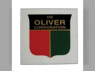 "Tractor Decal Shield 1-1/2"" Red Green and Black Mylar Oliver 1755 Super 77 1850 70 1650 1555 880 770 Super 55 1655 550 2150 1800 1955 1600 77 66 660 1855 Super 88 1900 Super 66 88 1750 1950 1550 2050"