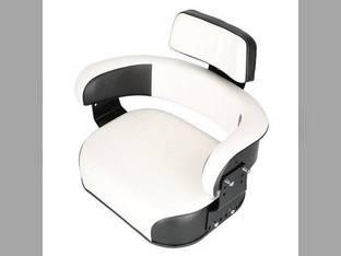 Seat Assembly with Bracket Vinyl Black/White Pleated Cushion International 856 666 806 1568 1026 1206 2706 Hydro 100 1566 756 1468 656 1456 826 706 544 686 504 966 1256 1466 2856 766 Hydro 86 1066