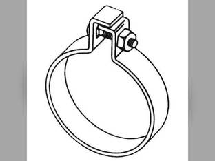 "Muffler Clamp - 1-1/2"" One Bolt Style"