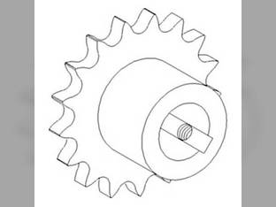 Sprocket - Counter Shaft Drive - Rice Unloading Auger John Deere 9510 9600 9500 9410 9610 9560 9760 STS 9450 9650 CTS 9660 9400 9550 9650 STS 9560 STS 9650 CTS 9660 STS CTSII 9860 STS 9550 SH