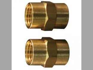 "Milton Air Tool Fitting - Female Hex Coupling Hose Fitting 1/4"" FNPT 2-pk"