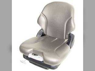 Seat Assembly - Mechanical Suspension Vinyl Gray Case 450 1845 440 1840 410 430 420 85XT 1845C 90XT John Deere 325 260 315 240 250 320 270 Bobcat S250 S150 S185 S130 S160 S205 T190 S175 Caterpillar