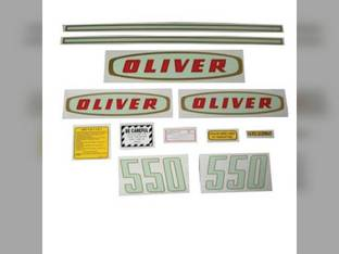 Tractor Decal Set 550 Early Mylar Oliver 550