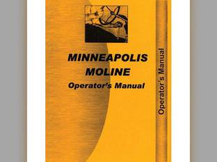 Operator's Manual - Kombination Minneapolis Moline Kombinations