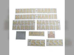 Tractor Decal Set 555 Vinyl Massey Harris 555