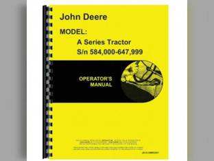 Operator's Manual - A John Deere A A OMR2001