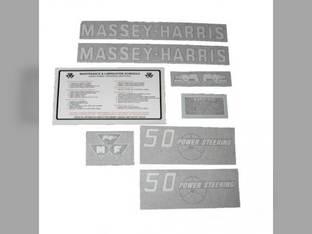 Tractor Decal Set 50 Power Steering Vinyl Massey Harris 50
