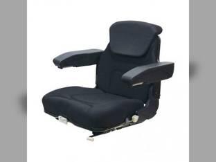 Seat Assembly Fabric Black Fully Fold able Massey Ferguson Case IH 1660 1680 Steiger McCormick Ford 6610 Allis Chalmers New Holland White Deutz Versatile John Deere International 886 986 AGCO Case